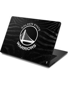 Golden State Warriors Black Animal Print Dell Chromebook Skin