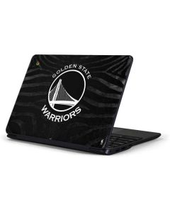 Golden State Warriors Black Animal Print Samsung Chromebook Skin