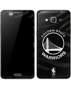 Golden State Warriors Black Animal Print Galaxy Grand Prime Skin