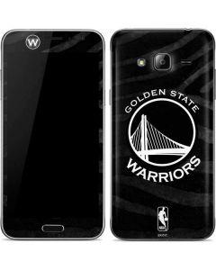 Golden State Warriors Black Animal Print Galaxy J3 Skin