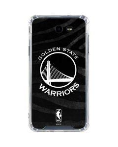 Golden State Warriors Black Animal Print Galaxy J7 (2017) Clear Case