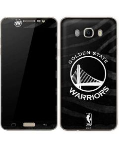 Golden State Warriors Black Animal Print Galaxy J7 Skin