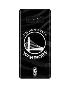 Golden State Warriors Black Animal Print Galaxy Note 8 Skin