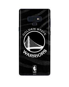 Golden State Warriors Black Animal Print Galaxy Note 9 Skin