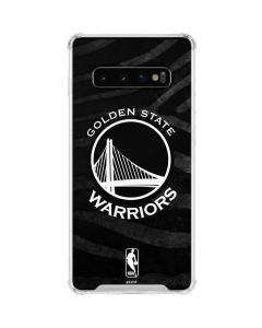 Golden State Warriors Black Animal Print Galaxy S10 Clear Case