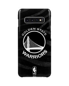 Golden State Warriors Black Animal Print Galaxy S10 Plus Lite Case