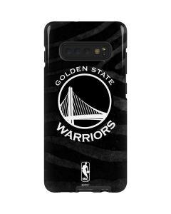 Golden State Warriors Black Animal Print Galaxy S10 Plus Pro Case