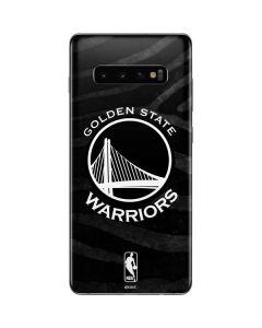 Golden State Warriors Black Animal Print Galaxy S10 Plus Skin