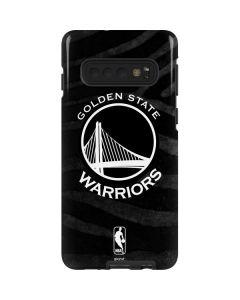 Golden State Warriors Black Animal Print Galaxy S10 Pro Case