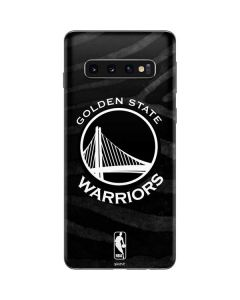 Golden State Warriors Black Animal Print Galaxy S10 Skin