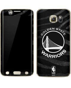 Golden State Warriors Black Animal Print Galaxy S6 edge+ Skin