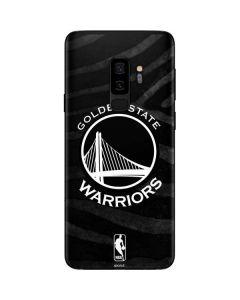 Golden State Warriors Black Animal Print Galaxy S9 Plus Skin
