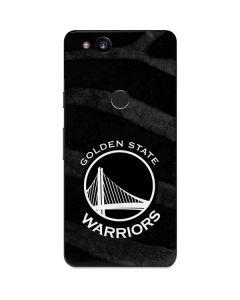 Golden State Warriors Black Animal Print Google Pixel 2 Skin