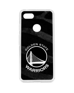 Golden State Warriors Black Animal Print Google Pixel 3 XL Clear Case