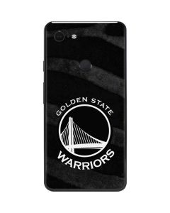 Golden State Warriors Black Animal Print Google Pixel 3 XL Skin