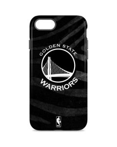 Golden State Warriors Black Animal Print iPhone 8 Pro Case