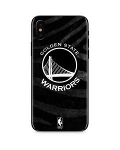 Golden State Warriors Black Animal Print iPhone X Skin