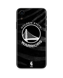 Golden State Warriors Black Animal Print iPhone XR Skin