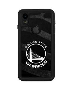 Golden State Warriors Black Animal Print iPhone XR Waterproof Case
