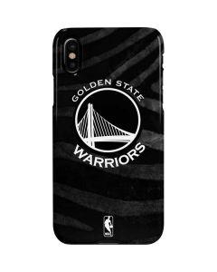 Golden State Warriors Black Animal Print iPhone XS Lite Case
