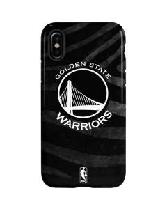 Golden State Warriors Black Animal Print iPhone XS Max Pro Case