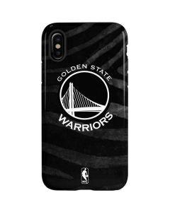 Golden State Warriors Black Animal Print iPhone XS Pro Case