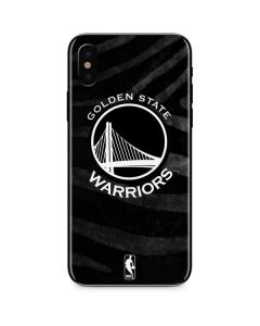 Golden State Warriors Black Animal Print iPhone XS Skin