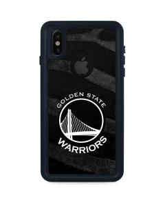 Golden State Warriors Black Animal Print iPhone XS Waterproof Case