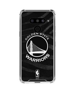 Golden State Warriors Black Animal Print LG V50 ThinQ Clear Case