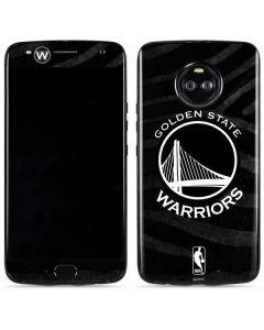 Golden State Warriors Black Animal Print Moto X4 Skin