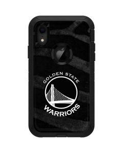 Golden State Warriors Black Animal Print Otterbox Defender iPhone Skin