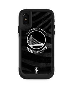 Golden State Warriors Black Animal Print Otterbox Pursuit iPhone Skin