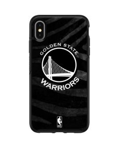 Golden State Warriors Black Animal Print Otterbox Symmetry iPhone Skin