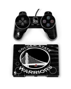 Golden State Warriors Black Animal Print PlayStation Classic Bundle Skin