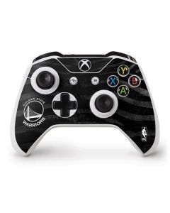Golden State Warriors Black Animal Print Xbox One S Controller Skin
