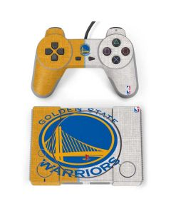 Golden State Warriors Canvas PlayStation Classic Bundle Skin