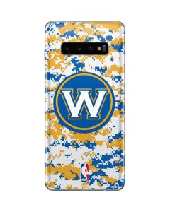 Golden State Warriors Digi Camo Galaxy S10 Plus Skin