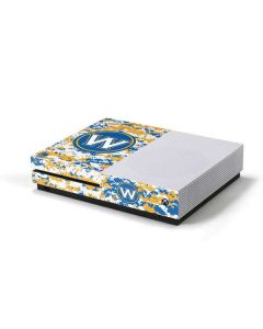 Golden State Warriors Digi Camo Xbox One S Console Skin