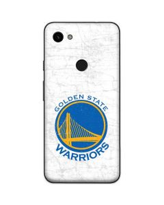 Golden State Warriors Distressed Google Pixel 3a Skin