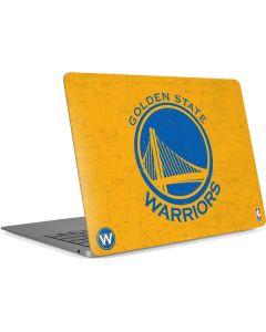 Golden State Warriors Distressed Apple MacBook Air Skin