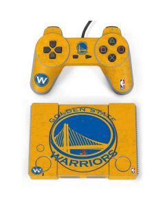 Golden State Warriors Distressed PlayStation Classic Bundle Skin