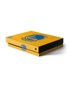 Golden State Warriors Distressed Xbox One X Console Skin