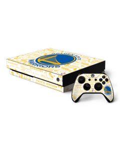 Golden State Warriors Historic Blast Xbox One X Bundle Skin