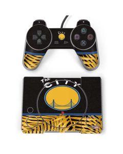 Golden State Warriors Retro Palms PlayStation Classic Bundle Skin