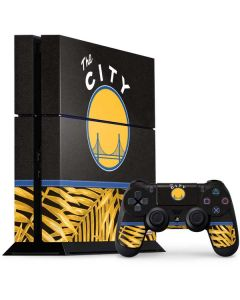 Golden State Warriors Retro Palms PS4 Console and Controller Bundle Skin