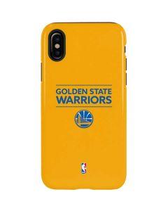 Golden State Warriors Standard - Yellow iPhone XS Pro Case