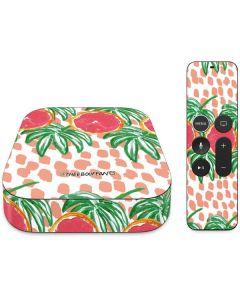 Graphic Grapefruit Apple TV Skin