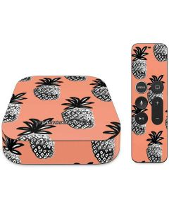 Gray Scale Pineapple Apple TV Skin