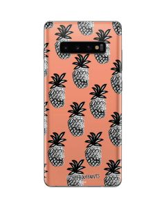 Gray Scale Pineapple Galaxy S10 Plus Skin