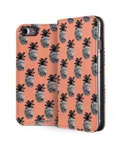 Gray Scale Pineapple iPhone 7 Folio Case